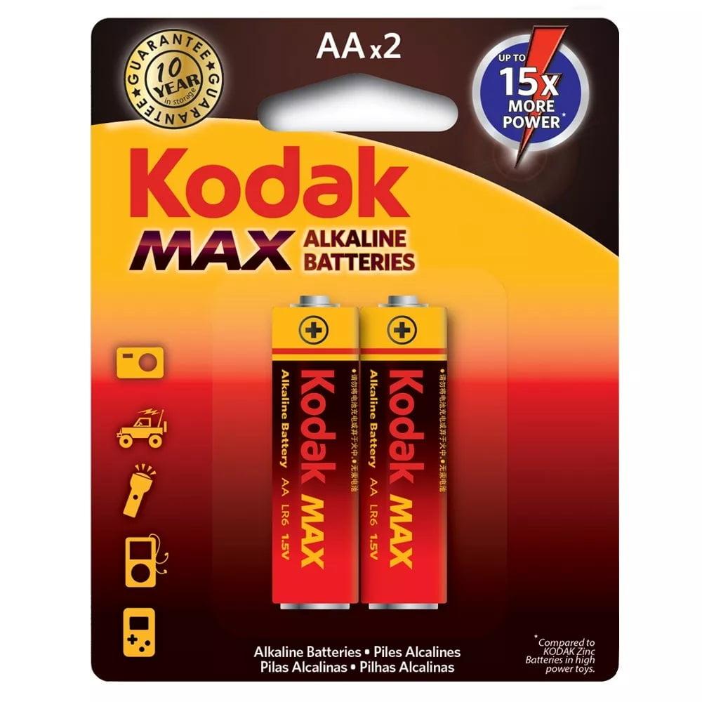 Pilha Aa Alcalina Max Cartela 2 unidades Kodak