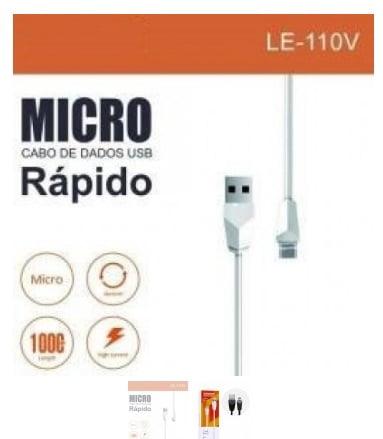 Cabo de Dados USB + Micro USB (V8) 1M LE-110V - It-Blue