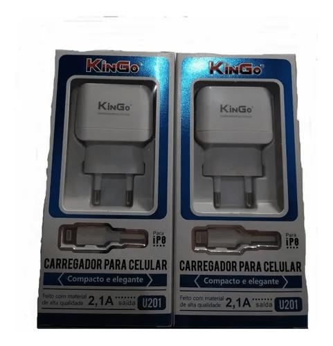 CARREGADOR KINGO IPHONE 2.1A U201