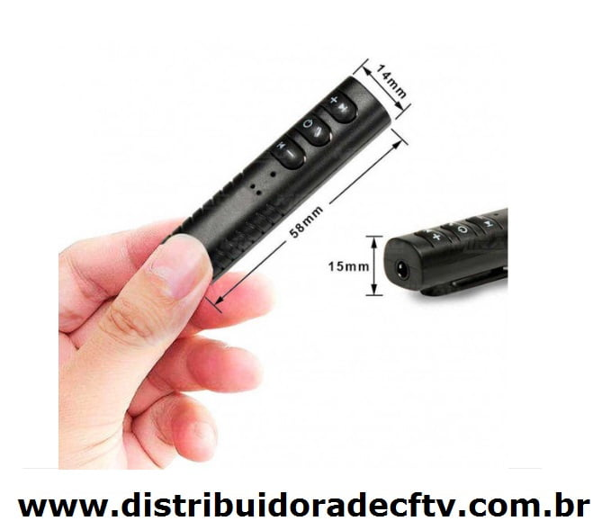 Adaptador Receptor de Audio Estereo Para Carro e Smartphone Wireless e Self Para Foto