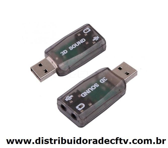 PLACA DE SOM USB 5.1 CANAIS NOTEBOOK PC 3D - XT-2026