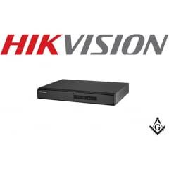 DVR Hikvision 4 Canais 1080N DS-7204HGHI-F1, HDCVI, HDTVI, AHD, ANALÓGICO