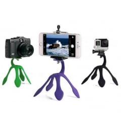 Suporte Flexível para Celular e Câmera Fotográfica Vermelho ZMM-01