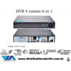 Dvr Stand Alone Hibrido 4 Canais D1 1080p P2p Acesso Celular