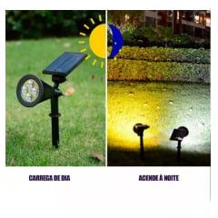 Luminária Solar 30w Espeto Jardim Super Led Luz SS-0502- verde