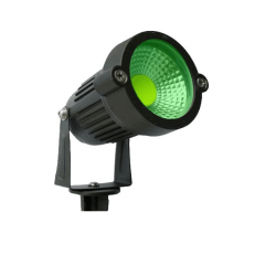 Refletor e Luminaria Espeto de Jardim LED 7W Verde