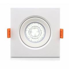 Lâmpada Direcionável Spot Super Led THS cob 7w branco frio moldura quadrada Embutir Redondo