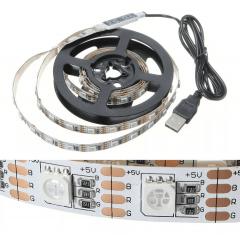 Fita led 3m Rgb 3528 180 Led Smd Flexível Luz 5 Volts