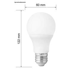 Lâmpada 7w Bulbo Super Led Branco frio Soquete E27 Econômica