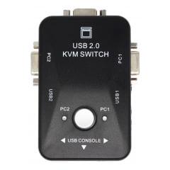 Switch Kvm Vga 2 Portas Para Pc Computador Cpu Mouse Teclado