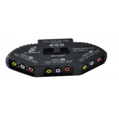 Chave Seletora Audio Video 3 X 1 Saida Home Dvd Tv Game Rca