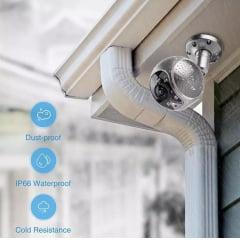 Câmera Ip Wifi Externa Lente 180° Alarme Led Inibidor 19Q