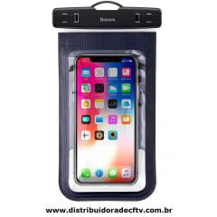 Capa para celular A Prova D'Agua Baseus Air Cushion preta