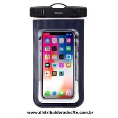 Capa para celular Braçadeira A Prova D'Agua Baseus Air Cushion Preto