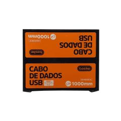 Cabo Basike 2.4A USB Type C Tubo 1m CBO-0004