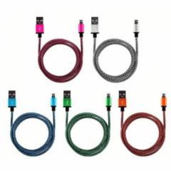 Cabo Carregador V8 de Nylon USB Cores Sortidas - XT-5380-V8