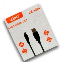 CABO DE DADOS USB - MICRO USB (V8) 1M LE-1024 - LELONG