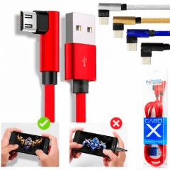 Cabo USB V8 Micro USB 2.1A para Smartphone Carregamento Rápido e Dados Conector em Alumínio Lateral 1M - 02951
