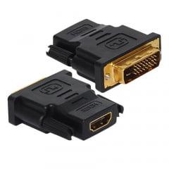 Conector Adaptador DVI D 24.1 M X HDMI F Banhado De Ouro