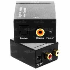 Conversor Óptico Toslink e Coaxial Digital para Rca - XT5528