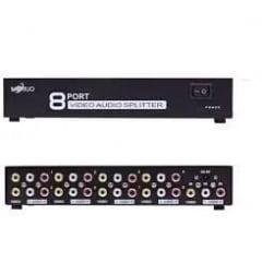 Distribuidor Rca Audio Video Composto 1x8 Splitter Av
