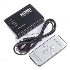 Divisor Hdmi 1x5 Switch Repetidor Distribuidor Splitter
