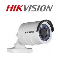 Câmera Hikvision Ds-2ce16c0t-ir de segurança infra vermelho bullet - 1 megapixel - lente 2,8mm - 2 em 1 TVI/CVBS