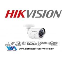 Câmera Hikvision Ds-2ce16c0t-ir de segurança infra vermelho bullet - Lente 2,8mm - 4 em 1 TVI/CVBS/AHD/CVI