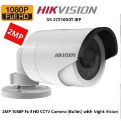 Câmera Hikvision DS-2CE16D0T-IRP de segurança infra vermelho bullet 2 Megapixel high 20m IR distancia lente 2.8MM