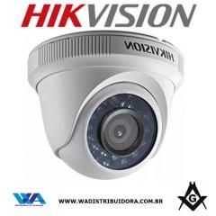 Camera de segurança dome infra de 20mts hd 720P lente 3.6mm 4 em 1 tvi/ahd/cvi/cvbs Hikvision Ds-2ce56c0t-irmf