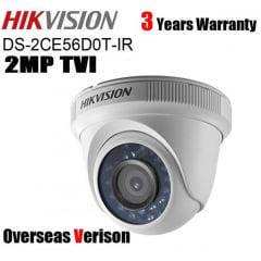 Câmera Hikvision DS-2CE56D0T-IR de segurança infra vermelho dome infra vermelho 2 Megapixel 20m IR 1080P resolution lente 2.8MM