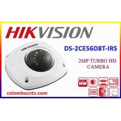 Câmera Dome Full HD Hikvision DS-2CE56D8T-IRS 1080p 20 Metros IP66 - Lente 3.6mm