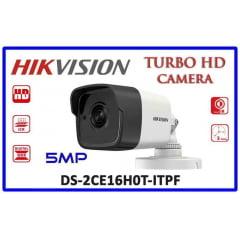 Câmera Hikvision DS-2CE16H0T-ITPF 5 MP Bullet Camera,  OSD menu, 2D DNR, DWDR, lente 3,6mm