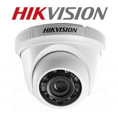 Camera de segurança dome infra 20mts  hd 720p - lente 2.8mm - 4 em 1 Tvi-ahd-cvi-cvbs icr smart ir hikvision ds-2ce56c0t-irmf