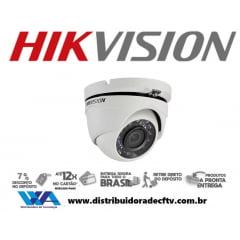 Câmera Hikvision DS-2CE56C0T-IRM de segurança infra vermelho dome 1.0 megapixel lente 3.6mm 2 em 1 TVi/CVBS