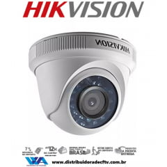 Câmera de segurança infra vermelho dome Hikvision Ds-2ce5ac0t-irp Lente 2.8mm