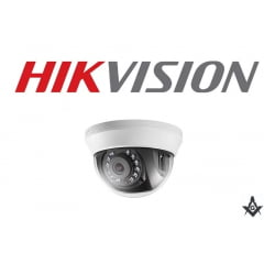 Câmera de segurança infra vermelho dome Hikvision DS-2CE56D0T-IRMMF 1080P 20 Metros 4 em1 lente 3.6mm