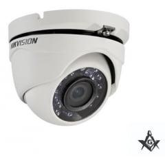 Câmera Hikvision Dome HD 1080P 20 Metros 4 em 1 DS-2CE56D0T-IRMF Lente 2,8mm, ICR