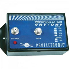 Amplificador de Linha VHF/UHF 30dB Bivolt PQAL3000 PROELETRONIC