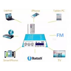Amplificador Potência Bluetooth P/ Caixa De Som Pc Note V10