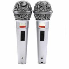 Kit com 02 Microfones Dinâmicos com Fio Unimex MC-205