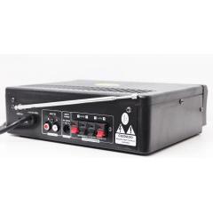 Amplificador De Som Com 2 Canal Karaokê E Bluetooth Potente