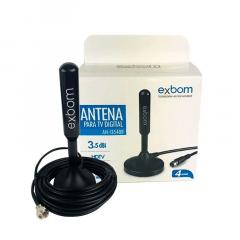 Mini Antena Tv Digital Hdtv Uhf Vhf Cabo 4m 3.5dbi Ani3540b