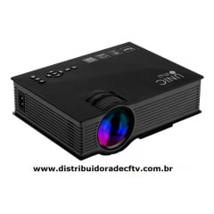 Mini Projetor Led Profissional 1800 Lumen Wifi Miracast Uc68