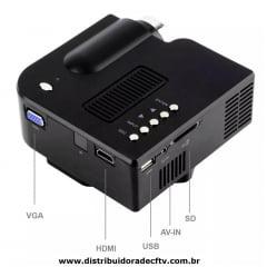 Mini Projetor Portátil Led Lcd 48 Lumens Hdmi Uc-28