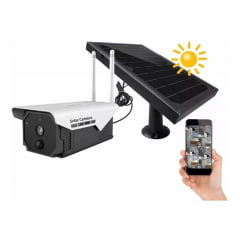 Câmera IP WIFI Solar Bateria Recarregável no Sol Acesso pelo celular Tynl21 sem fio alta definição com bateria inclusa a prova de água