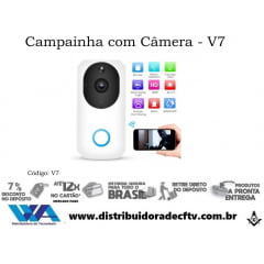 Câmera Campainha Video porteiro ip wi-fi - V7