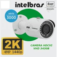 Camera Intelbras Hdcvi Vhd 3430b Bullet 3.6 4mp 1440p 2k - original e com nosta fiscal