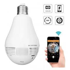 Camera Ip sem fio Lampada Panoramica Segurança Wifi Led B13-l-v2