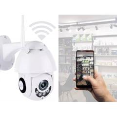 Câmera Ip Speed Dome Zoom 4x Giratória Wifi Prova De Água